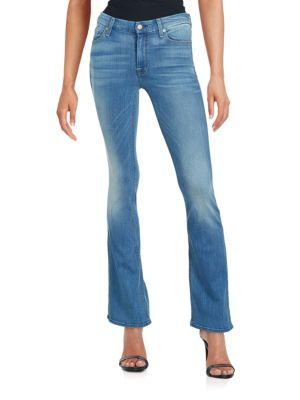 7 For All Mankind Faded Flared Jeans In Salt Spray