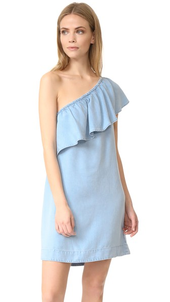 7 For All Mankind One Shoulder Dress In Riov