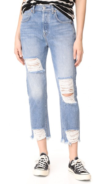 7 For All Mankind Josefina Ripped Jeans In Vintage Wythe