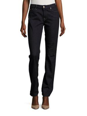 7 For All Mankind Karah Straight-Fit Jeans In Dark Onyx Sky