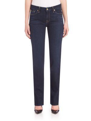 7 For All Mankind Kimmie Straight-Fit Jeans In Dark Dusk Indigo