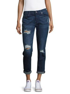 7 For All Mankind Rolled Cuff Jeans In Baker City