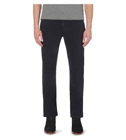 7 For All Mankind Slimmy Luxe Performance Slim-Fit Tapered Jeans In Navy