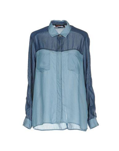 7 For All Mankind Patterned Shirts & Blouses In Blue