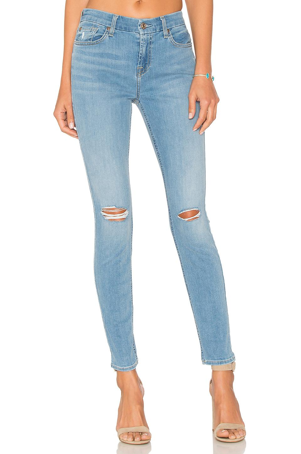7 For All Mankind Ankle Skinny.  In B(Air) Sunfaded 2