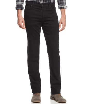 7 For All Mankind Men'S Luxe Performance Straight-Leg Standard Classic Jeans In Nightshade Black