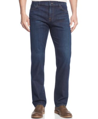 7 For All Mankind Men'S Luxe Performance Straight Fit Standard Classic Jeans In North Pacific