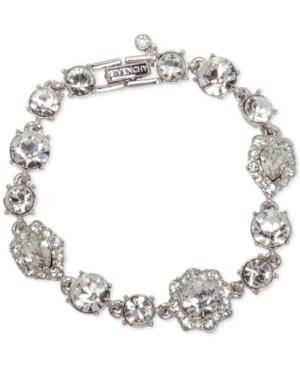Givenchy Stone And Crystal Link Bracelet In Silver