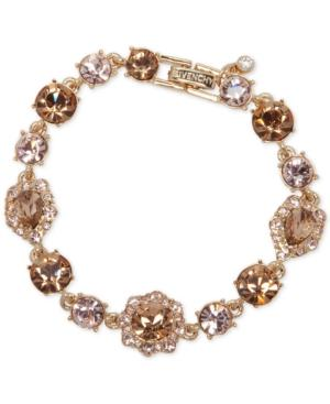 Givenchy Stone And Crystal Link Bracelet In Gold