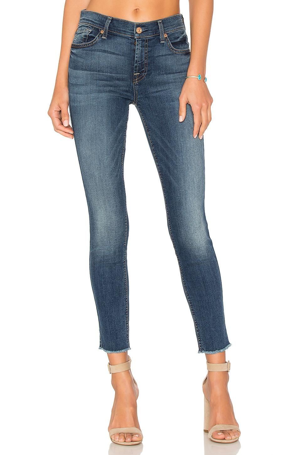 7 For All Mankind Ankle Skinny In Rich Costa Blue