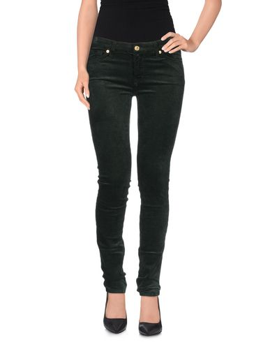 7 For All Mankind Casual Pants In Dark Green