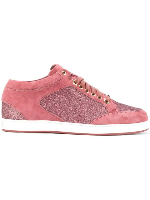 Jimmy Choo Miami Leather Trainers In Vietage Rose