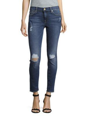7 For All Mankind Gwenevere Ankle Jeans In Adison