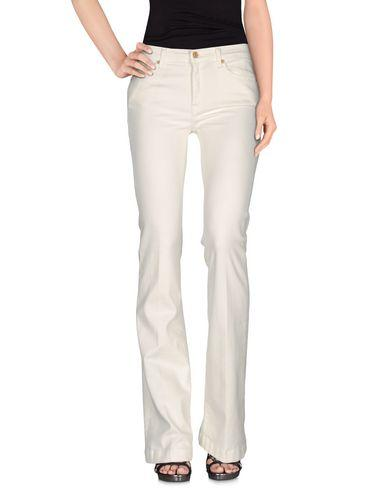 7 For All Mankind Denim Pants In Ivory
