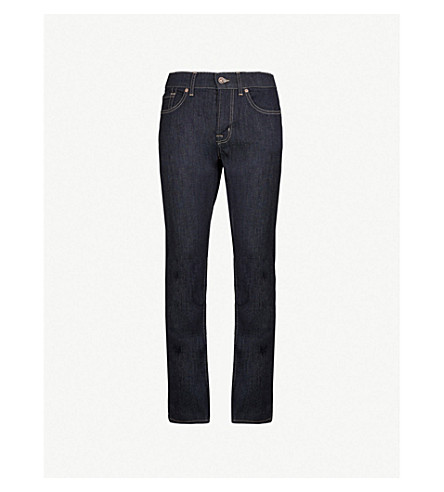 7 For All Mankind Slimmy Luxe Performance Slim-Fit Tapered Jeans In Rinse