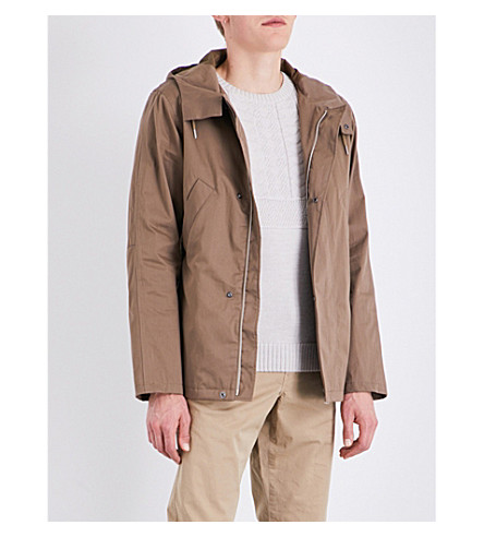 A.P.C. Cliff Cotton-Blend Parka Jacket In Taupe