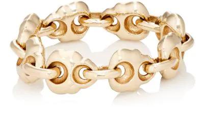 Luis Morais Skull Chain Ring - Gold
