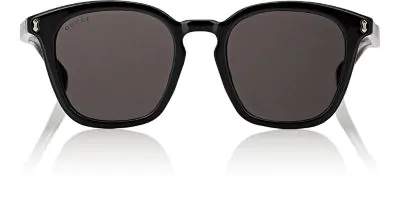 Gucci Vintage Round Acetate Sunglasses, Black