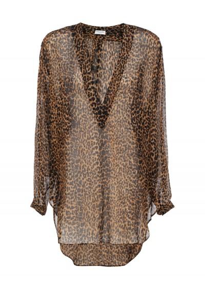 Saint Laurent Shirt In Rope/light Brown