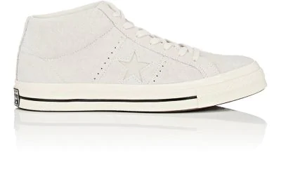 "Converse ""One Star '74 Vintage"" Suede Sneakers In Egret"