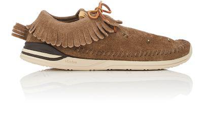 Visvim Suede Moccasin Sneakers In Brown