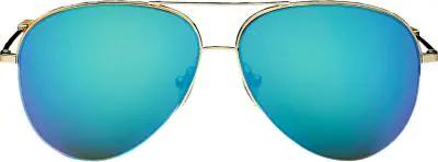 Victoria Beckham Petite Classic Victoria Sunglasses In Light Blue