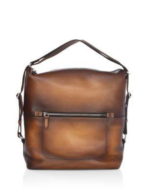 Salvatore Ferragamo Runway 24 Hour Shoulder Bag, Brown In Light Brown