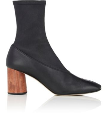 Helmut Lang Leather Square-Toe Boots In 001 Black