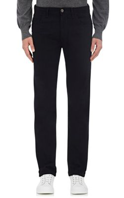 Brioni Slim-Fit Stretch Cotton And Cashmere-Blend Denim Jeans In Navy