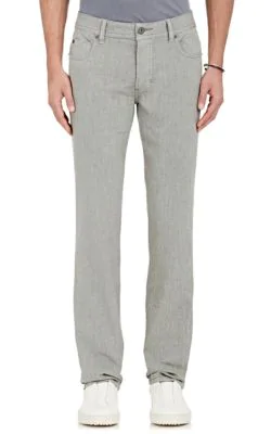 James Perse Straight Leg Five-Pocket Pants In Gray