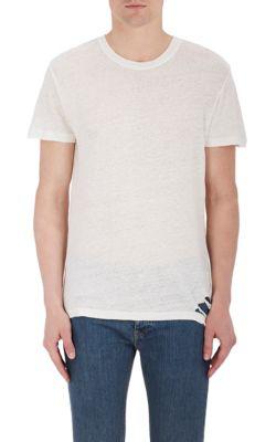 Iro Distressed Linen T-Shirt In White