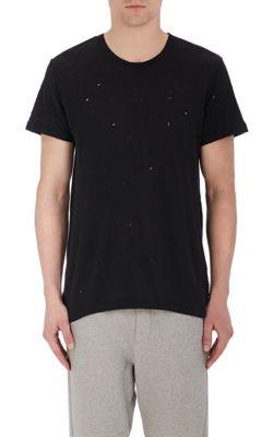 Iro Distressed Linen T-Shirt In Black