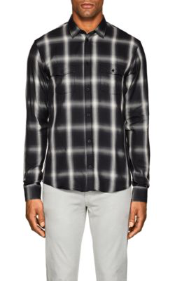 Iro Albion Plaid Cotton-Blend Shirt In Black
