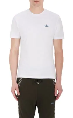 Vivienne Westwood Logo-Embroidered Cotton Jersey T-Shirt In Black