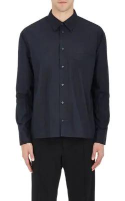 Marni Cotton Poplin Shirt In Navy