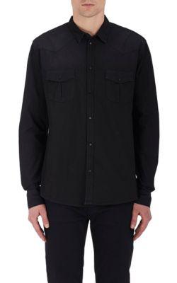 Iro Soso Cotton Chambray Shirt In Gray