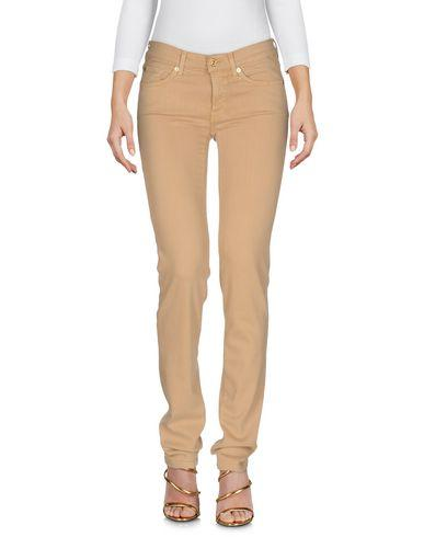 7 For All Mankind Denim Pants In Beige