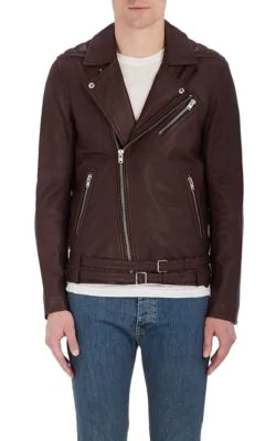Iro Onome Leather Moto Jacket In Red