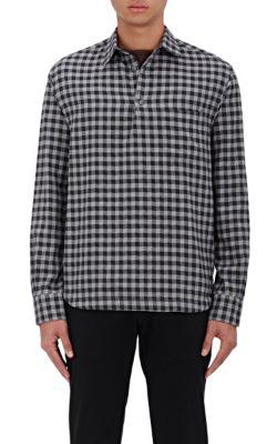 Barena Venezia Checked Cotton-Wool Shirt In Gray