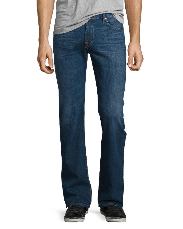 7 For All Mankind Men's Straight-Leg Foolproof Denim Jeans, Classic Indigo In Medium Blue