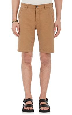 Barena Venezia Linen-Cotton Twill Shorts In Beige/Tan