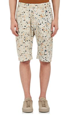Barena Venezia Abstract-Print Stretch-Cotton Shorts In White