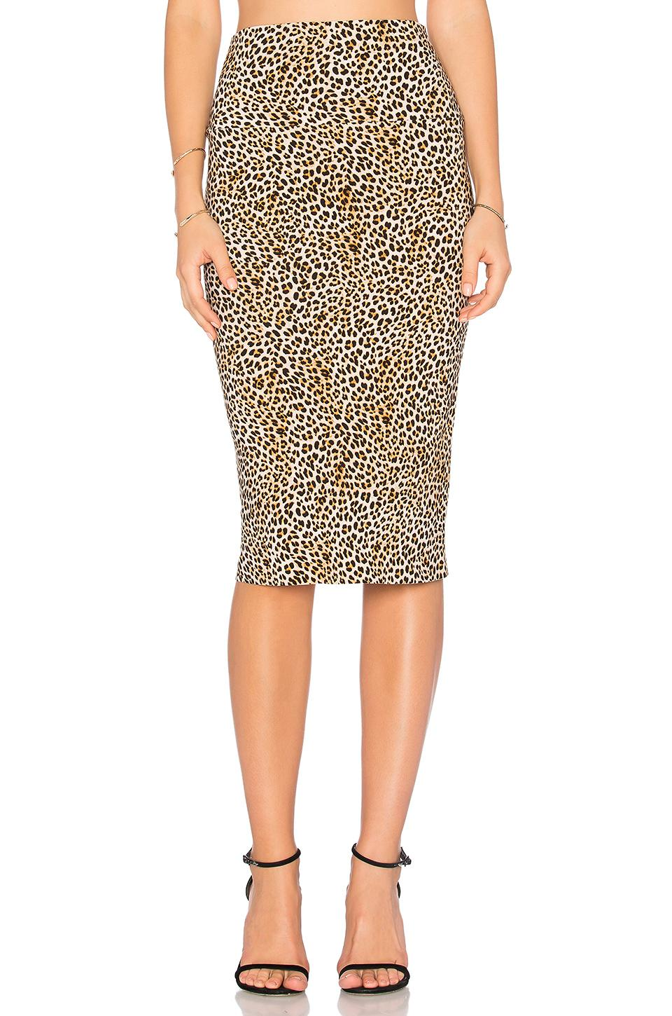 Norma Kamali Straight Skirt In Brown
