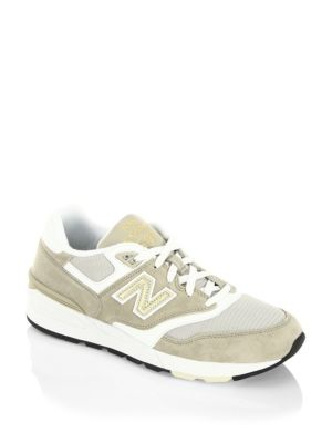 New Balance 597 Classic Trench Sneakers In Khaki