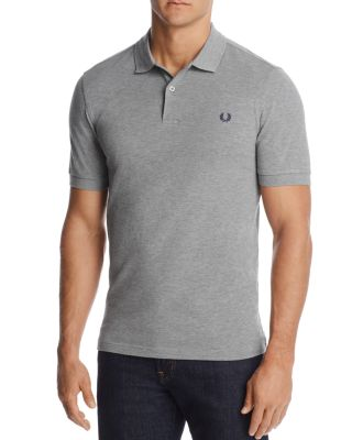 Fred Perry Slim Fit PiquÉ Polo Shirt In Steel Marl Gray