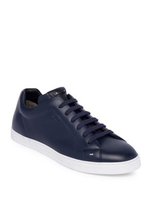 Fendi Bag Bugs Lace-Up Sneakers - Blue In Navy