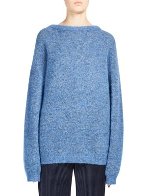 Acne Studios Dramatic Oversized Mohair Blend Sweater In Blue