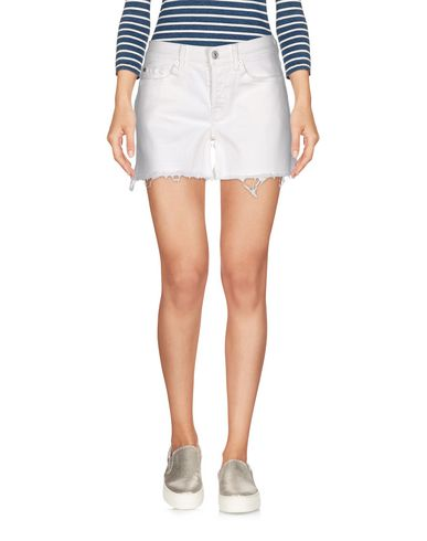 7 For All Mankind Denim Shorts In White