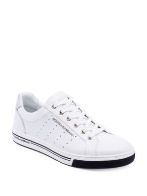 Dolce & Gabbana Low Perforated Sneakers In White