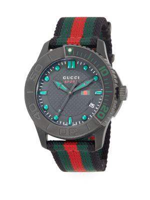 Gucci G Timeless Collection Watch In Black